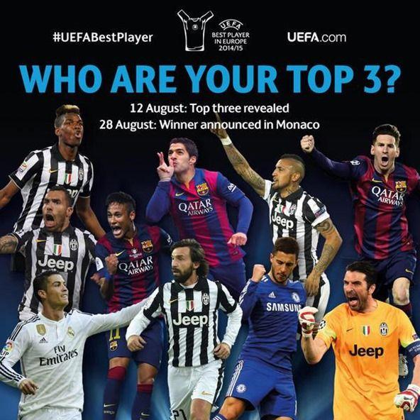 UEFA欧州最優秀選手賞候補10名を発表 メッシら選出 ユーヴェが最多5名