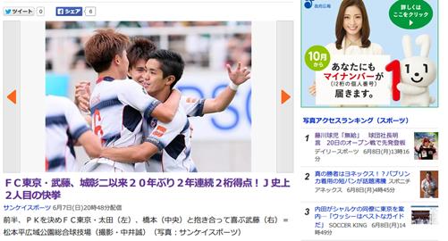 武藤嘉紀、デビューから2年連続2桁得点は城彰二以来、史上2人目の20年ぶりの快挙!!
