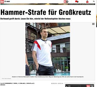 Kevin Groskreutz  Hammerstrafe nach Party Skandal   Bundesliga   Bild.de