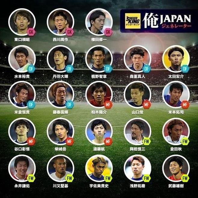 日本代表、東アジア杯メンバー23名発表!武藤雄樹、遠藤航、倉田、米倉初選出
