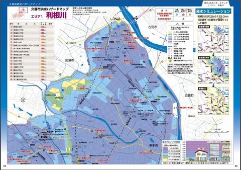 ハザードマップ洪水