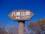 山頂標識(確か三角点もあったような・・・)