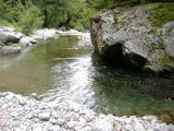 朝日川で水浴びしてサッパリ