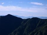 御影森山の背後に吾妻連峰&磐梯山