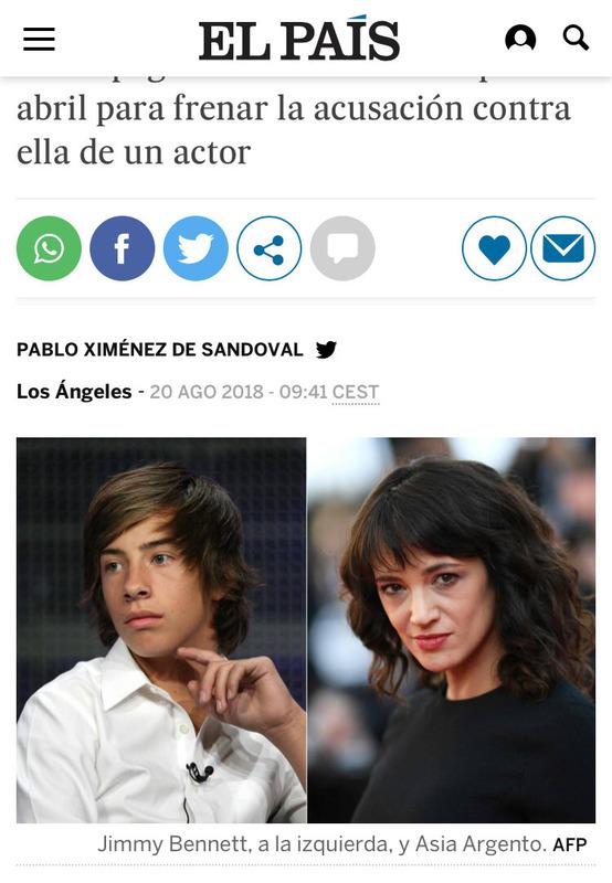 【悲報】♯metoo運動の中心人物だった女優、17歳少年に性的暴行をして口止め料を払っていた