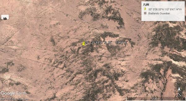 ナミビアの渦巻地上絵