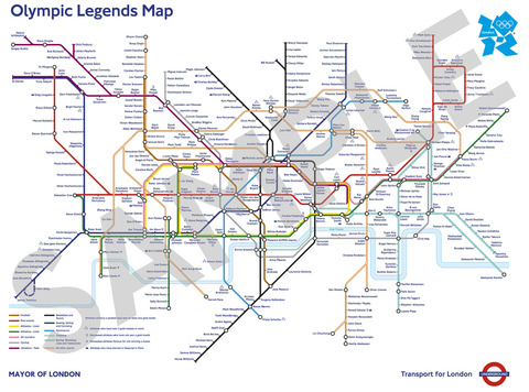 The Olympic Legends Map0