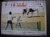 砂漠でテニス