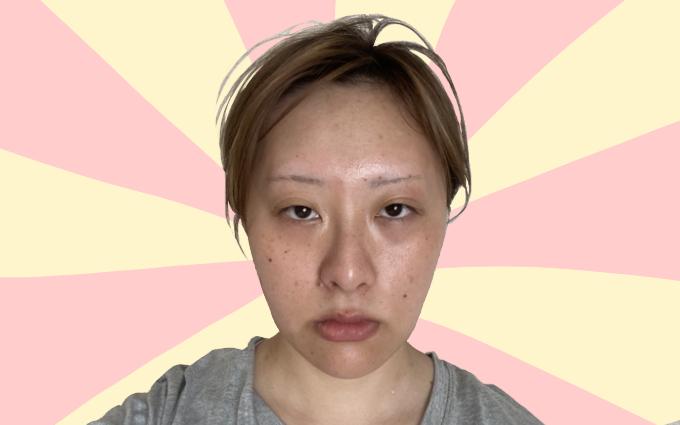 眉なし眉毛メイク1