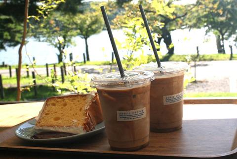 アイスコーヒー・シフォンケーキ