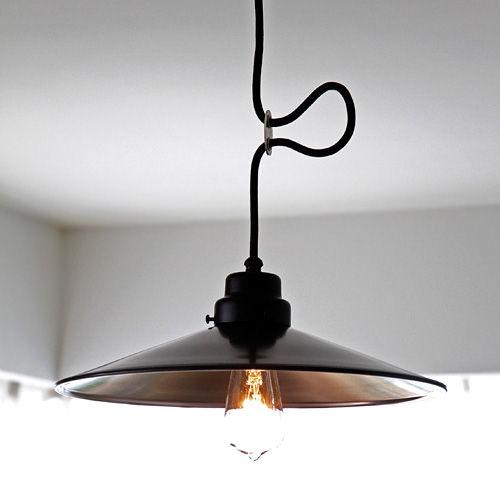 後藤照明バイスロウ アルミP1L型墨黒ペンダント