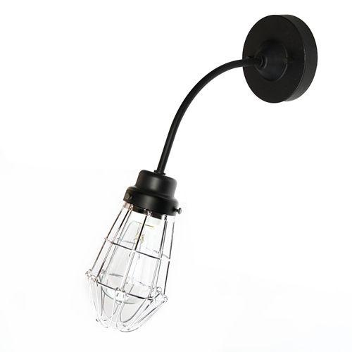 後藤照明 電柱型ブラケットガード黒アンティークランプ