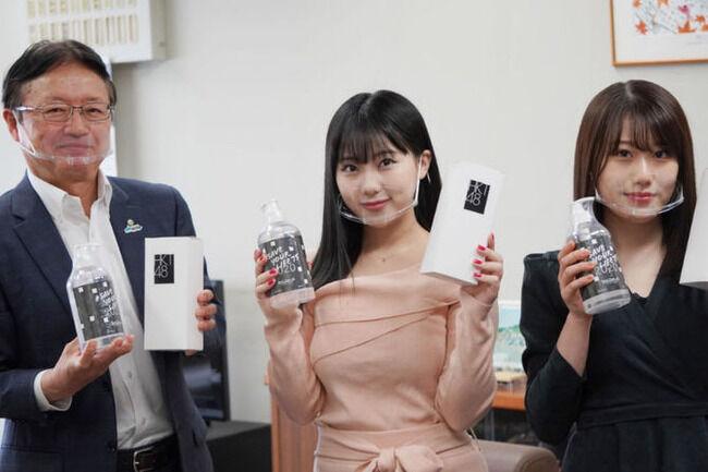【画像】HKT48田中美久さん、福岡市教育委員会を教育的に宜しくない服装で訪問してしまう?【みくりん】