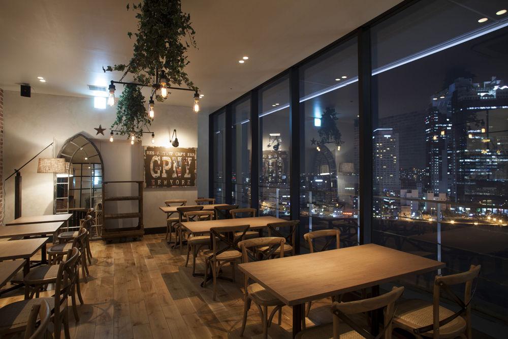 夜景がキレイなニューヨークレストラン【梅田ルクア】