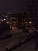 カナリ・ワーフと雪