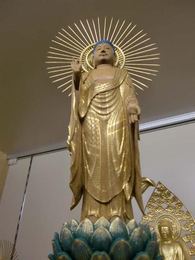 日本の伝統美 阿弥陀如来像 截金入り