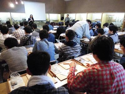 5-141110東京から中学生の工房見学