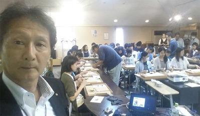 7-160609京都伝統工芸大学校のみなさんの工房見学