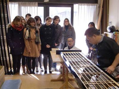 8-工房見学 テュービンゲン大学 同志社日本研究センターの皆さん