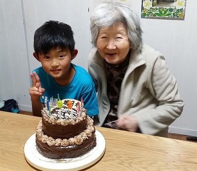 2-母と孫の誕生日