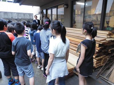 2-京都市立上高野小学校の京仏具工房見学