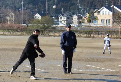 5-北区少年野球振興会 始球式