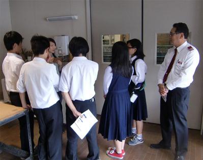 4-工房見学 寒川中学校様