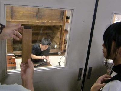 5-160609京都伝統工芸大学校のみなさんの工房見学