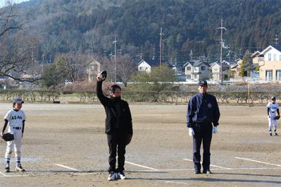 6-北区少年野球振興会 始球式