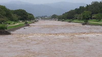 6-130916台風18号後の賀茂川