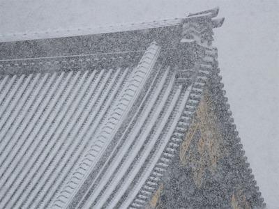 140214ブログ 真宗本廟 雪の御影堂