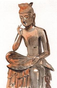 イラスト仏様 弥勒菩薩