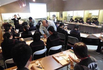1-151014k京仏具工房見学 福岡女学院高等学校様