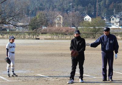 3-北区少年野球振興会 始球式