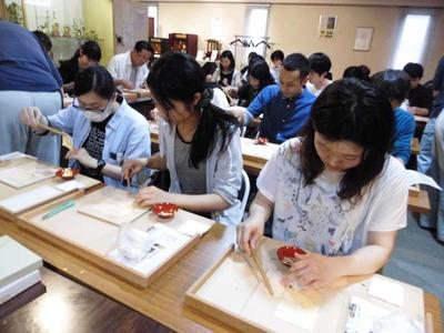 8-160609京都伝統工芸大学校のみなさんの工房見学