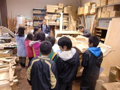 2-150225百々小学校5年生の工房見学