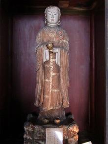 100319飛鳥寺の聖徳太子十六歳像