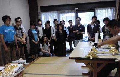 6-160609京都伝統工芸大学校のみなさんの工房見学
