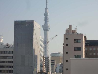 小堀東京店屋上からスカイツリー