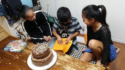 2-141101母と孫の誕生日