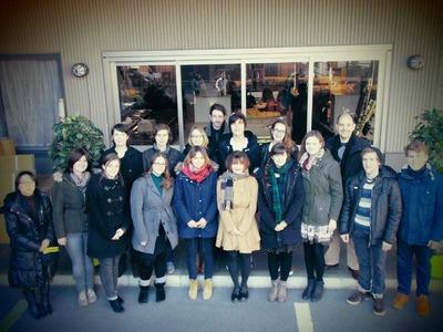 2-工房見学 テュービンゲン大学 同志社日本研究センターの皆さん