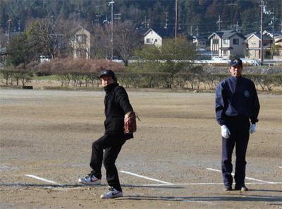 4-北区少年野球振興会 始球式