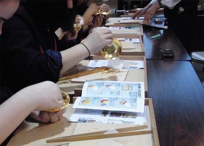 3-151014-1京仏具工房見学 福岡女学院高等学校様