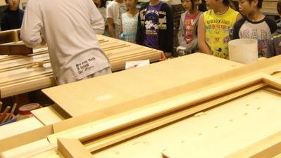 3-京都市立上高野小学校の京仏具工房見学