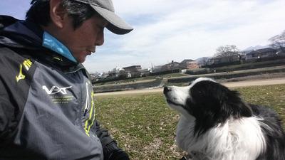 3-愛孫愛犬の激励
