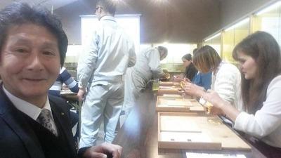 9-工房見学 テュービンゲン大学 同志社日本研究センターの皆さん