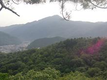 宝ヶ池山間園路から比叡山