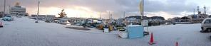 雪の師崎港