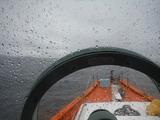 雨の師崎沖