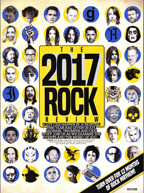Kerrang、2017年ROCKレビュー:多くの大御所の中に「BABYMETAL」
